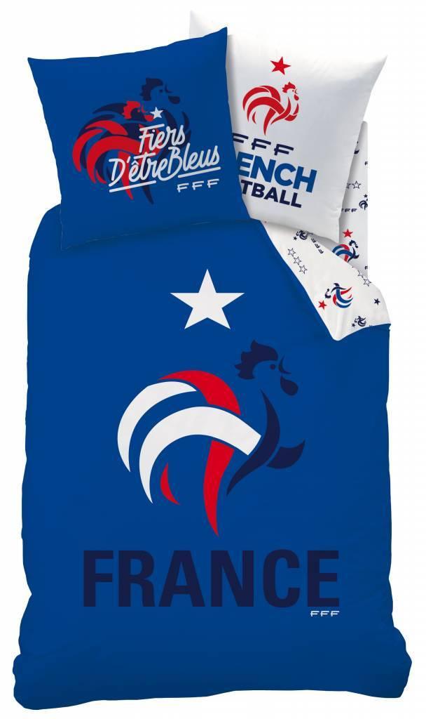 France FF Dekbedovertrek Nation 140x200cm - 63x63cm - Polycotton