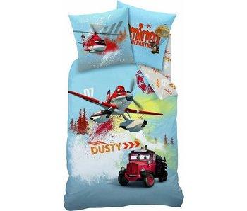 Disney Planes Bettbezug Feuer Erlöser 140x200cm + 63x63cm 100% Baumwolle