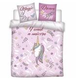 Unicorn Magic Dream - Bettbezug - Doppel - 200 x 200 cm - Rosa
