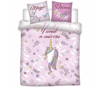 Unicorn Dekbedovertrek Magic Dream 200x200cm