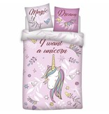 Unicorn Magic Dream - Duvet cover - Single - 140 x 200 cm - Pink
