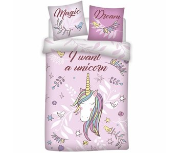 Unicorn Housse de couette Magic Dream 140x200cm