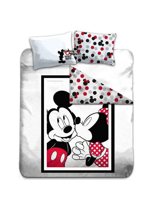 Disney Mickey Mouse Dekbedovertrek Kiss Lits Jumeaux 240x220cm