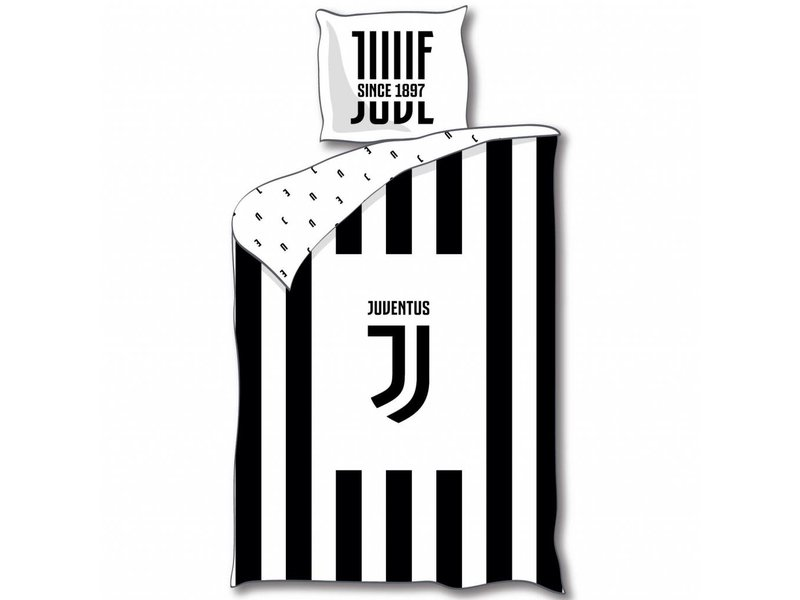 Juventus Duvet Cover Logo Polyester 140x200 63x63cm Simbashop Nl