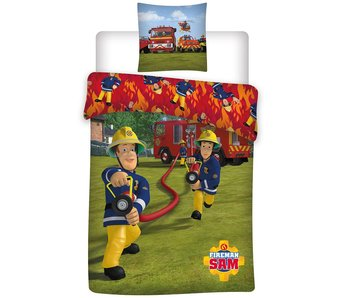 Brandweerman Sam Bettbezug Action 140x200cm  - Polyester