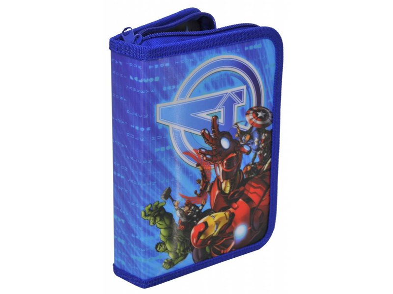 Marvel Avengers Second Choice - Filled Pencilcase - 21 pieces - Blue