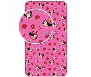 Disney Minnie Mouse Fitted sheet Hearts 90 x 200 cm