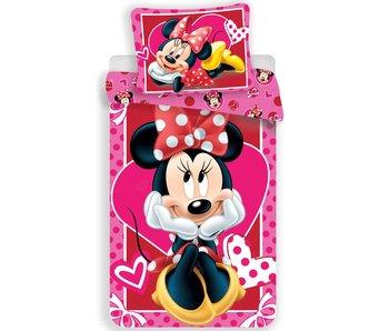Disney Minnie Mouse Dekbedovertrek Hearts 140x200cm