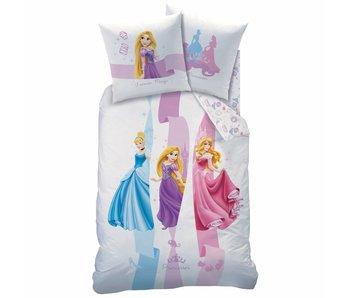 Disney Princess Bettbezug Forever Magic 140x200cm einschließlich Schlafanzugtasche