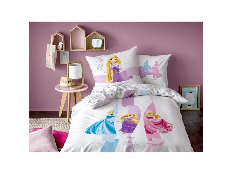 Disney Princess Forever Magic - Dekbedovertrek - Eenpersoons - 140 x 200 cm - Multi