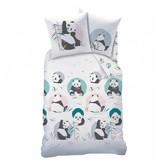 Matt & Rose Panda - Bettbezug - Einzel - 140 x 200 cm - Multi