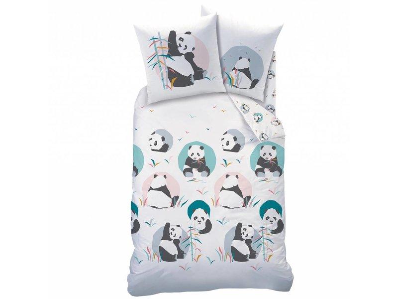 Matt & Rose Panda - Duvet cover - Single - 140 x 200 cm - Multi
