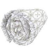 Matt & Rose Tendance Ceramique Kaki - Hoeslaken - Tweepersoons - 140 x 200 cm - Wit