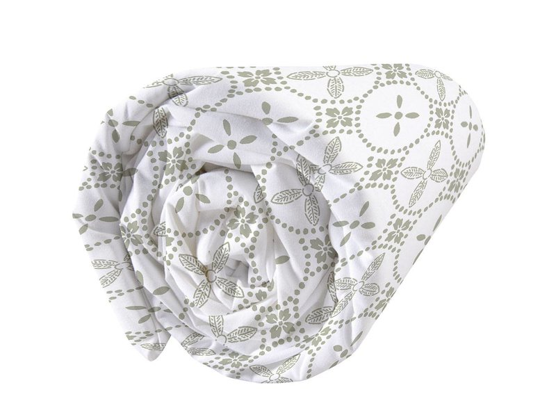Matt & Rose Tendance Ceramique Kaki - Fitted sheet - Double - 140 x 200 cm - Green