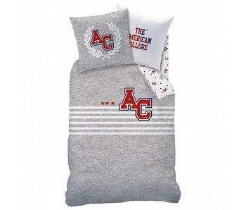American College Housse de couette Stripes 140x200cm Polycotton y compris le sac de pyjama