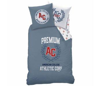 American College Dekbedovertrek Athletic 140x200cm Polycotton inclusief pyjama bag