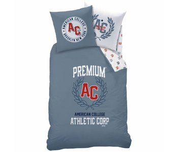American College Duvet cover Athletic 140x200cm Polycotton including pajama bag