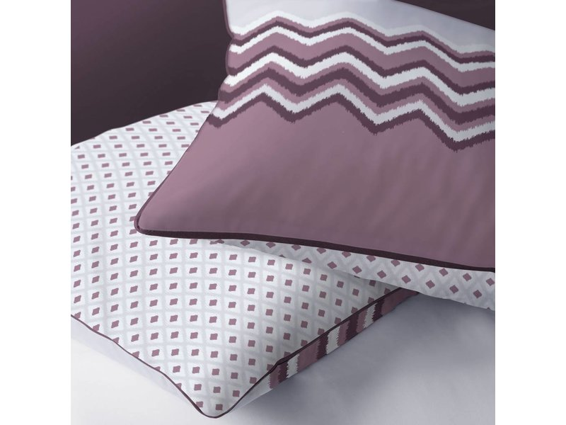 Matt & Rose Esprit Chevrons - Duvet cover - Hotel size - 260 x 240 cm - Raisin