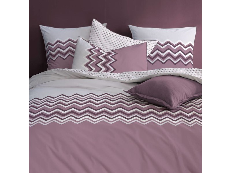 Matt & Rose Esprit Chevrons - Duvet cover - Double - 200 x 200 cm - Raisin