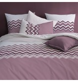 Matt & Rose Esprit Chevrons - Duvet cover - Single - 140 x 200 cm - Raisin