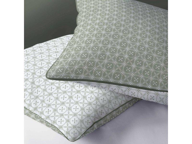 Matt & Rose Tendance Ceramique Khaki - Bettbezug - Hotelgröße - 260 x 240 cm - Grün