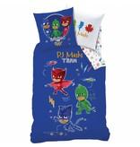 PJ Masks Complicity - Dekbedovertrek - Eenpersoons - 140 x 200 cm - Blauw