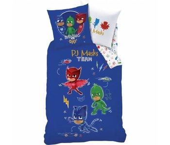 PJ Masks Housse de Couette Complicity 140x200 cm y compris le sac de pyjama