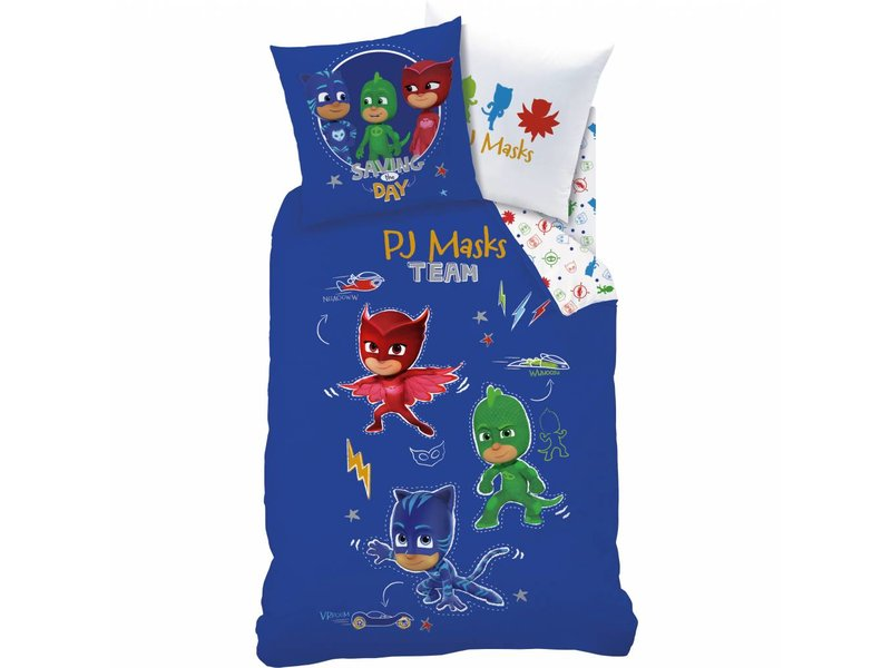 PJ Masks Complicity - Duvet Cover - Single - 140 x 200 cm - Blue