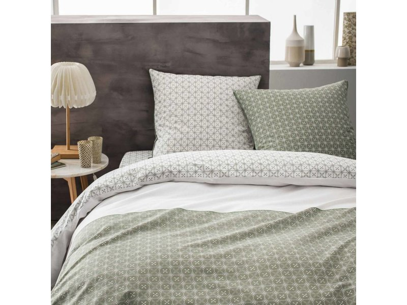 Matt & Rose Tendance Ceramique Kaki - Duvet cover - Double - 200 x 200 cm - Green