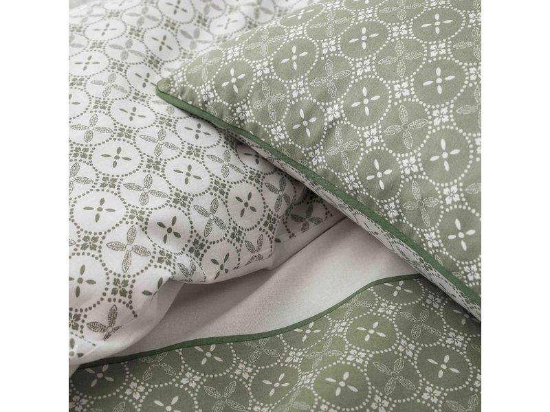 Matt & Rose Tendance Ceramique Kaki - Duvet cover - Single - 140 x 200 cm - Green