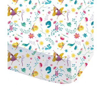 Disney Rapunzel Fitted Sheet Nature 90x200 cm
