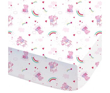 Peppa Pig Fitted sheet Unicorn 90x200cm