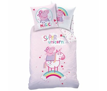 Peppa Pig Duvet cover Unicorn 140x200cm including pajama bag