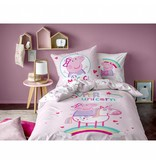 Peppa Pig Unicorn - Duvet cover - Single - 140 x 200 cm - Pink