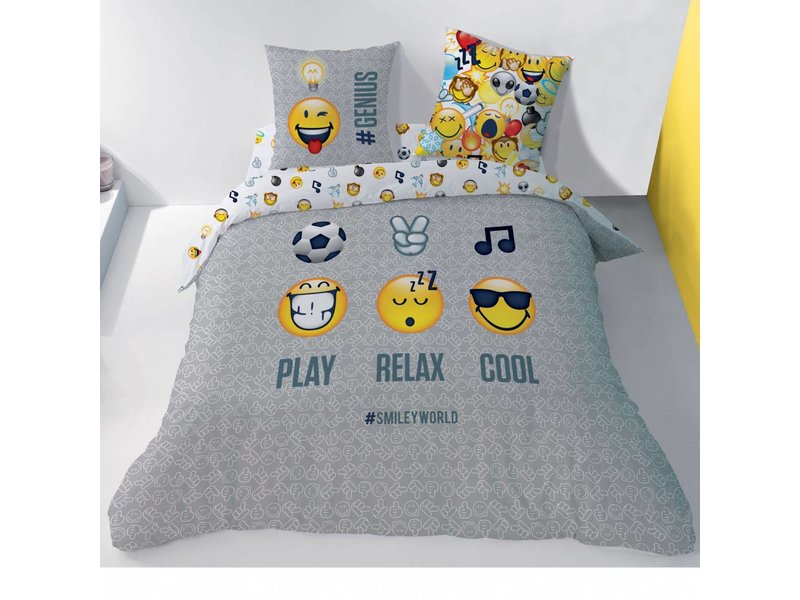 Smiley World Mood - Duvet cover - Lits Jumeaux - 240 x 220 cm - Multi