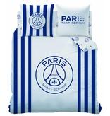 Paris Saint Germain Rayures - Housse de couette - Lits Jumeaux - 240 x 220 cm - Blanc