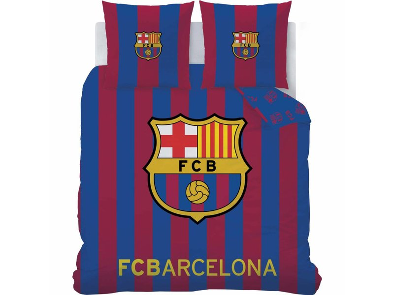 FC Barcelona Logo - Dekbedovertrek - Lits Jumeaux - 240 x 220 cm - Multi