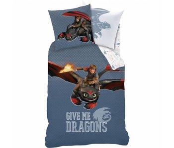 Dragons Duvet cover Buddy 140x200cm including pajama bag