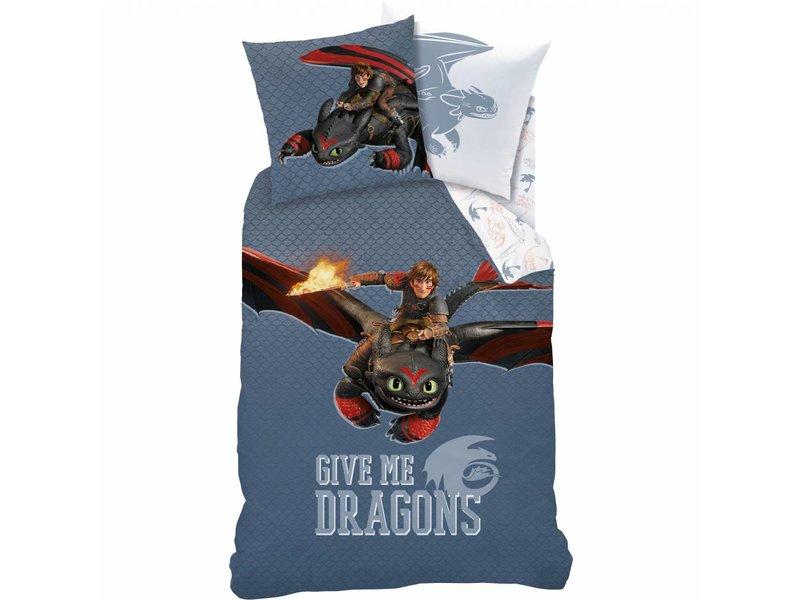 Dragons Buddy - Bettbezug - Einzel - 140 x 200 cm - Multi