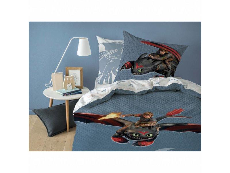 Hoe tem je een draak Buddy - Duvet cover - Single - 140 x 200 cm - Multi