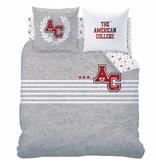 American College Stripes - Dekbedovertrek - Tweepersoons - 240 x 220 cm -  Grijs