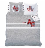 American College Stripes - Duvet cover - Double - 240 x 220 cm - Gray