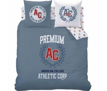 American College Dekbedovertrek Athlectic 240x220cm Polycotton inclusief pyjama bag