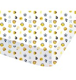 Smiley World Mood - Fitted sheet - Double - 140 x 200 cm - Multi