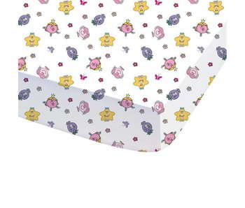 Monsieur Madame Fitted sheet Happy Life 90x200cm