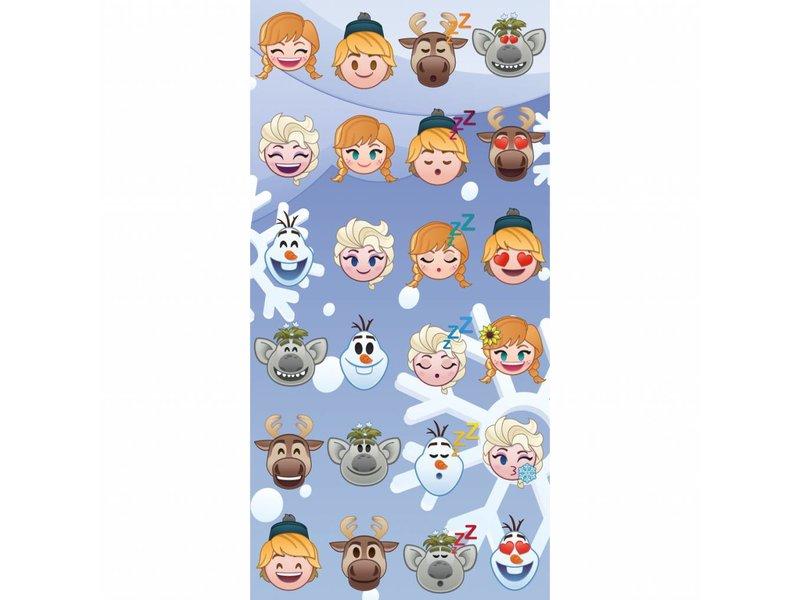 Disney Emoji Frozen famous - Strandtuch - 70 x 140 cm - Multi