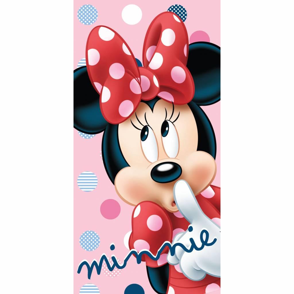 Disney Minnie Mouse Strandlaken, Dots - 70x140cm - Katoen