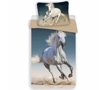 Animal Pictures Weißes Pferd des Bettbezugs