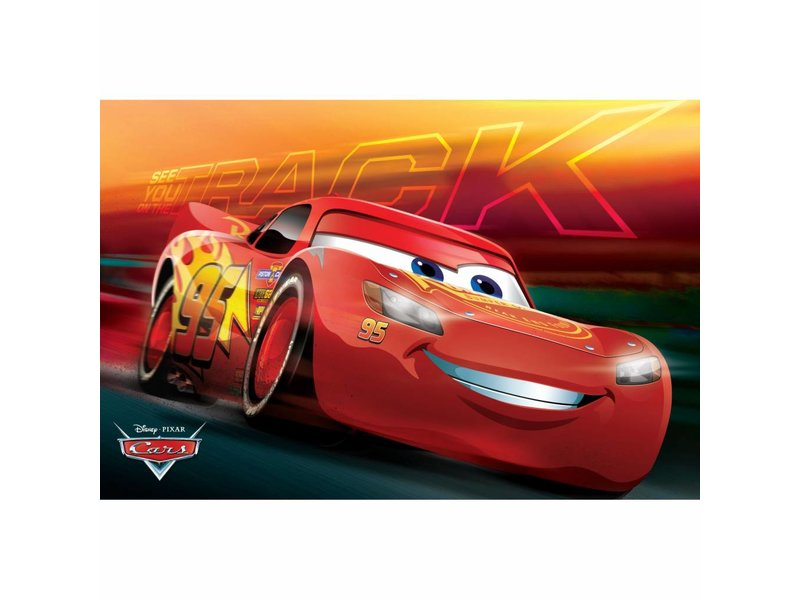 Disney Cars - Bath mat - 40 x 60 cm - Red
