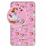 Disney Sofia The First Garten - Spannbettlaken - Single - 90 x 200 cm - Pink